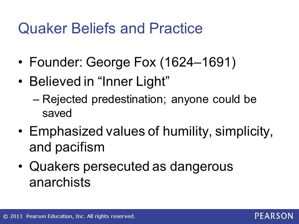 Quaker Beliefs and Practice