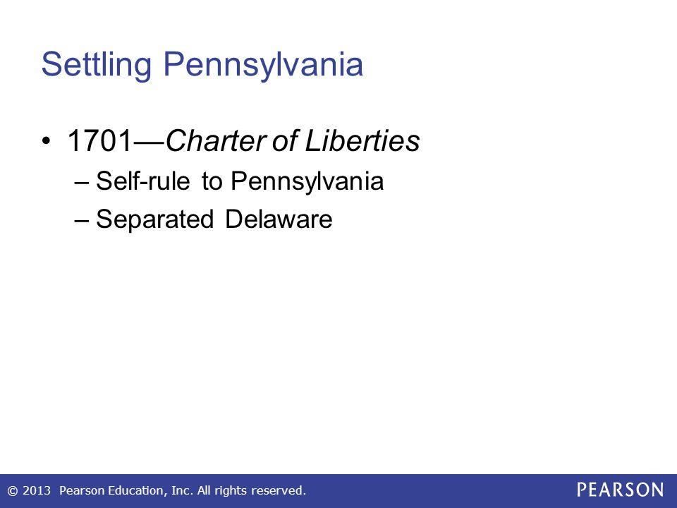 Settling Pennsylvania