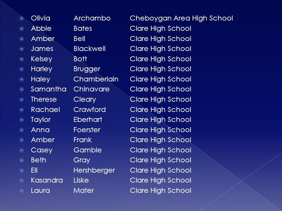 Olivia Archambo Cheboygan Area High School