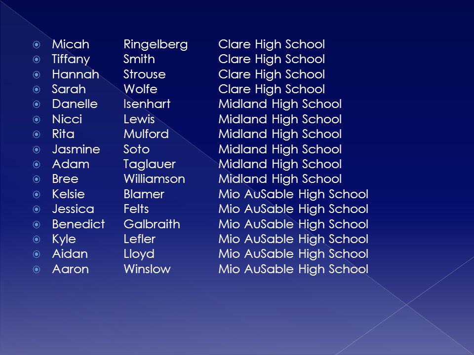 Micah Ringelberg Clare High School