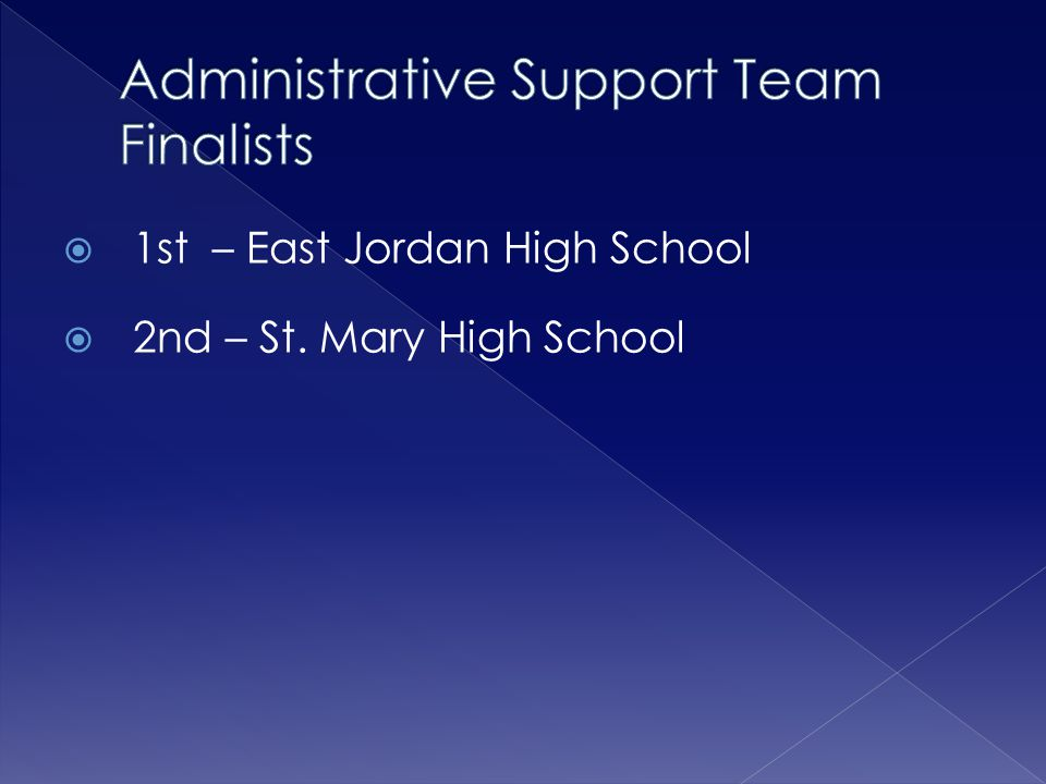 Administrative Support Team Finalists