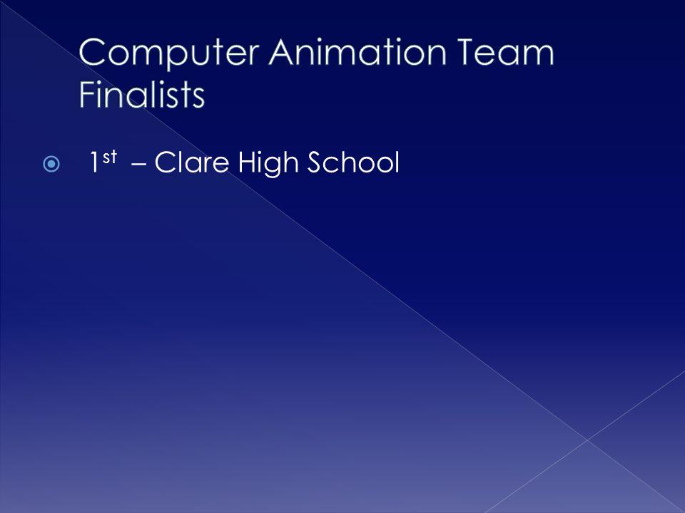 Computer Animation Team Finalists