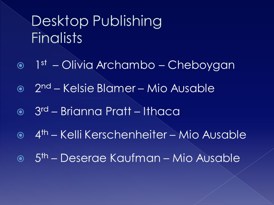 Desktop Publishing Finalists