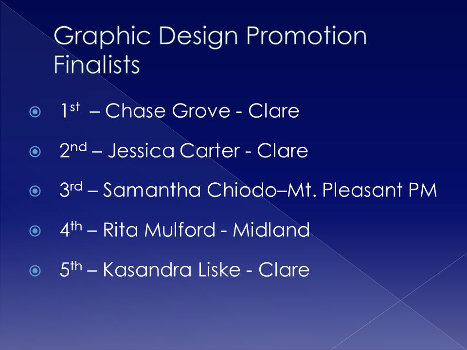 Graphic Design Promotion Finalists
