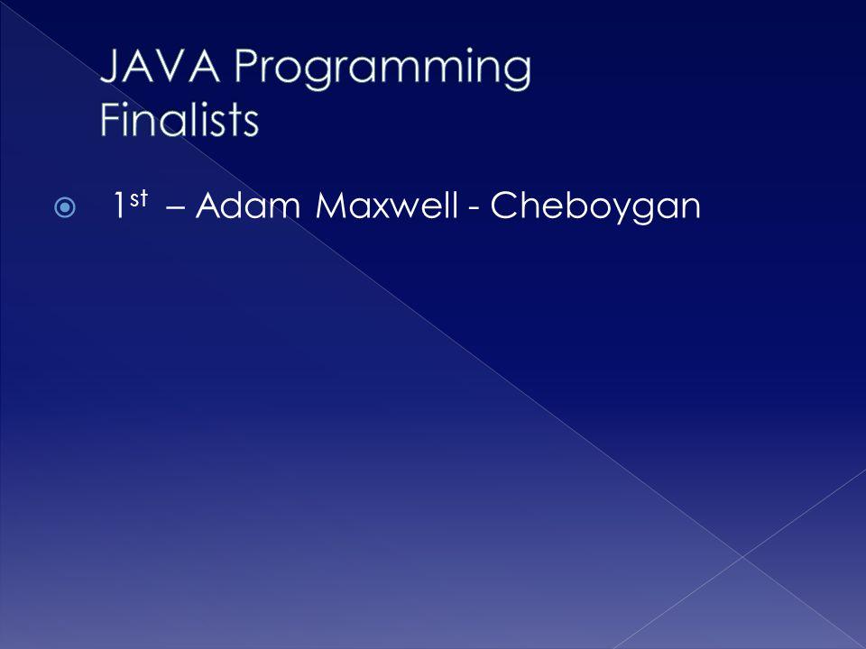 JAVA Programming Finalists