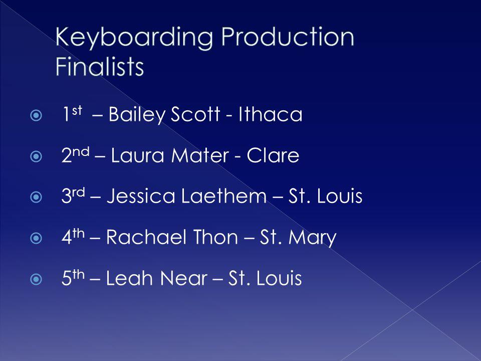 Keyboarding Production Finalists