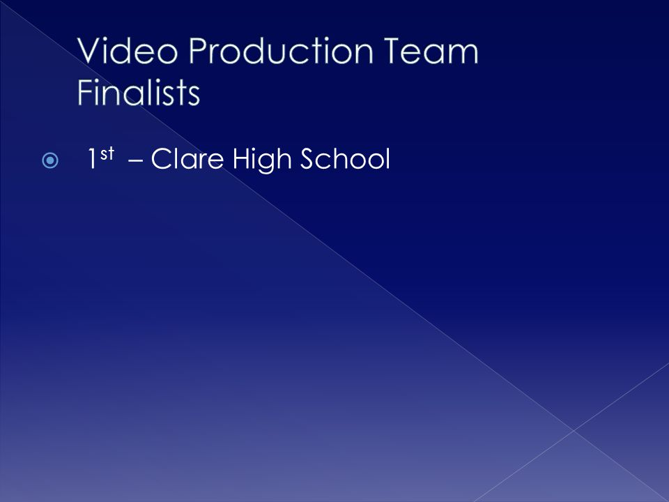 Video Production Team Finalists