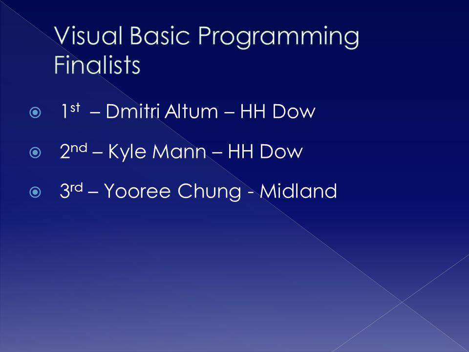Visual Basic Programming Finalists