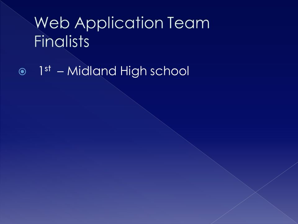 Web Application Team Finalists