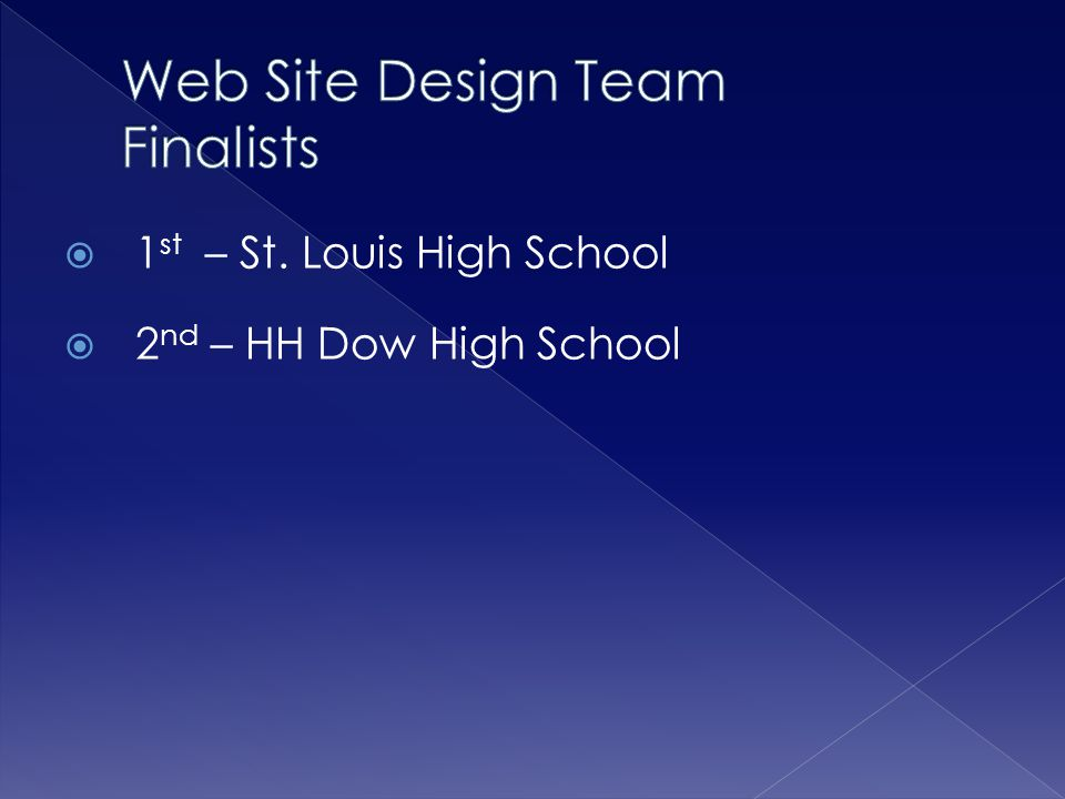 Web Site Design Team Finalists