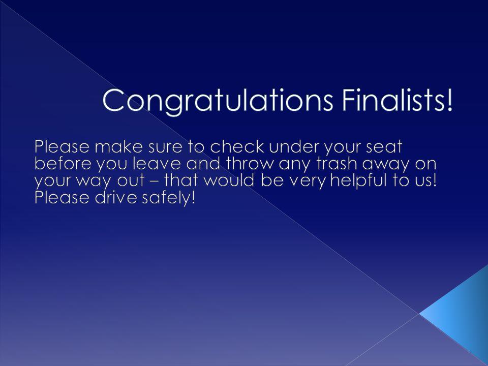 Congratulations Finalists!