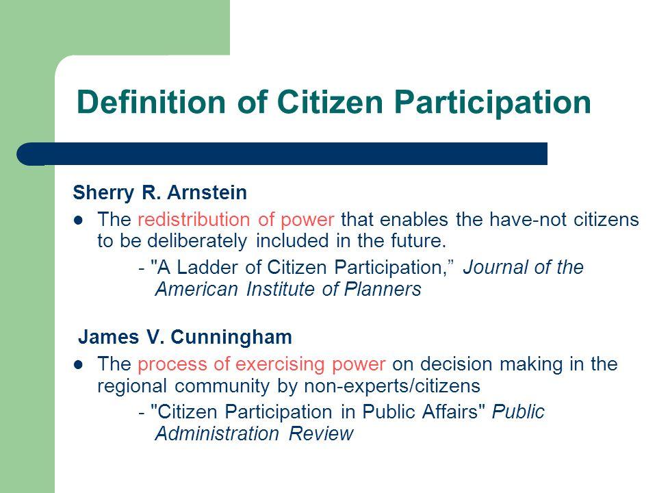 Definition of Citizen Participation