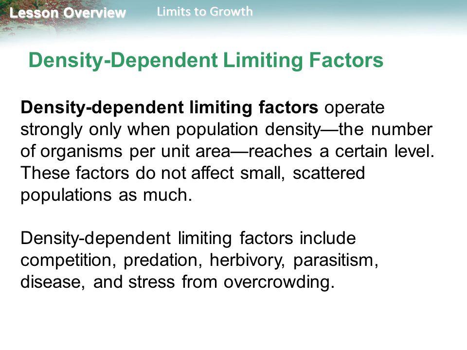 Density-Dependent Limiting Factors