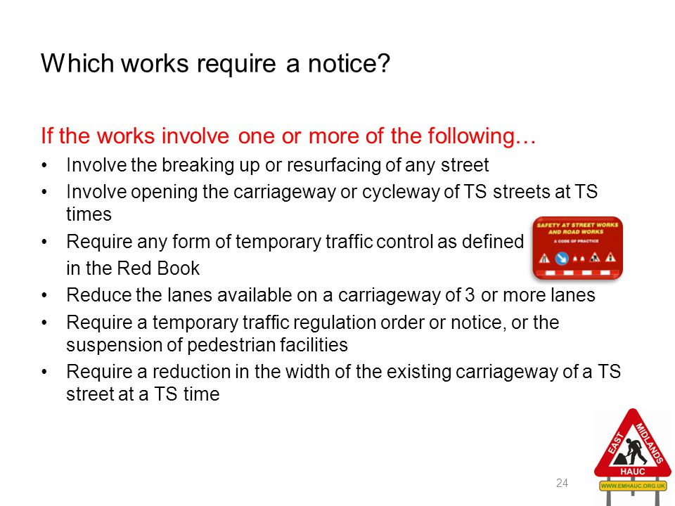 Which works require a notice