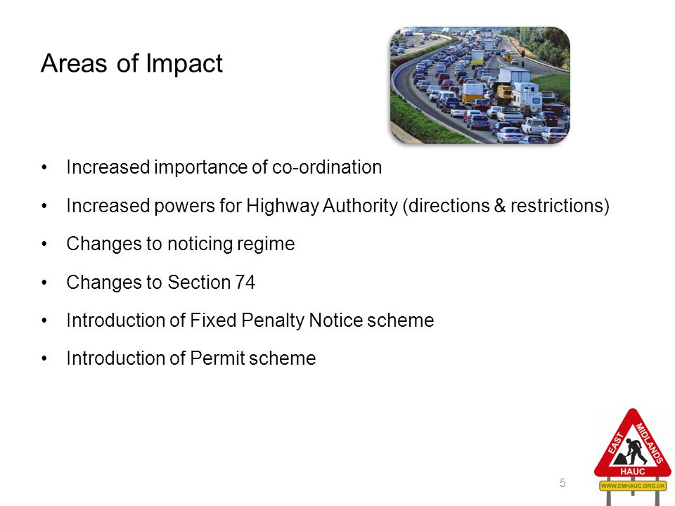 Areas of Impact Increased importance of co-ordination
