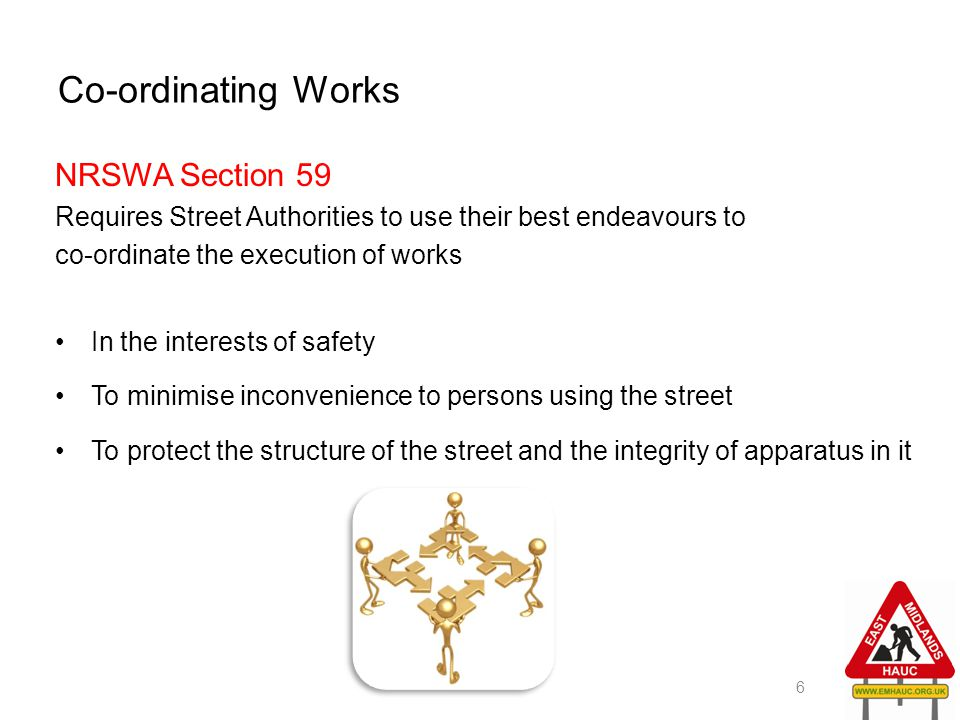 Co-ordinating Works NRSWA Section 59