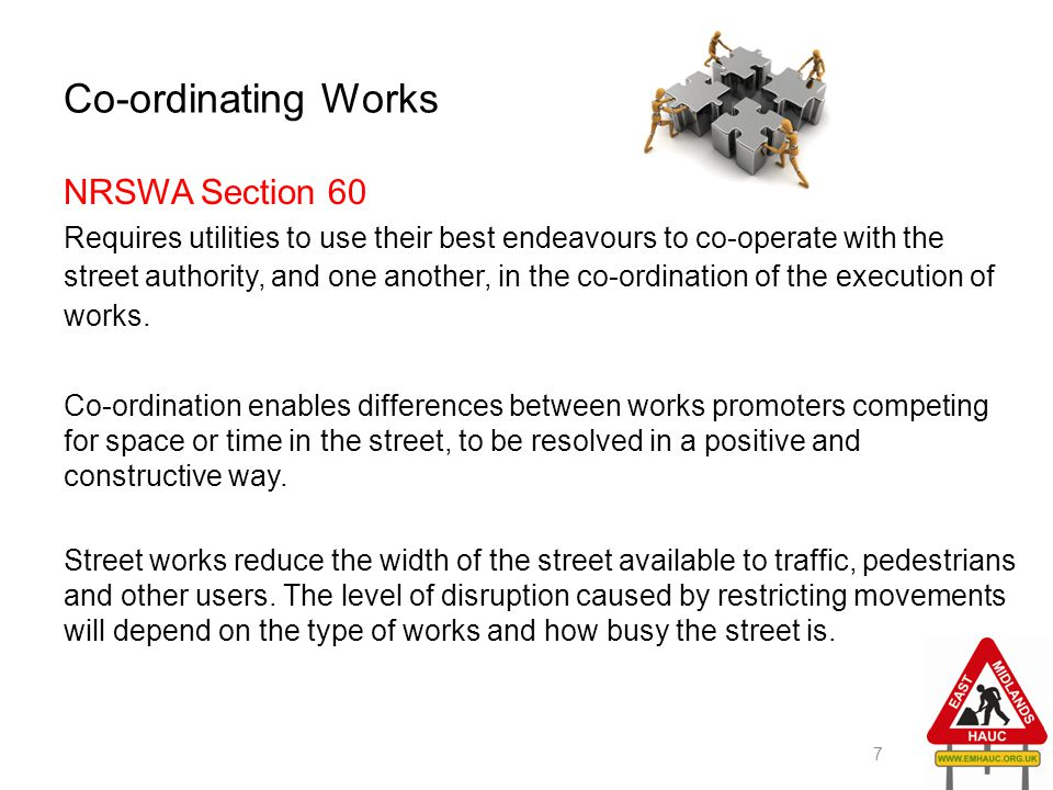 Co-ordinating Works NRSWA Section 60