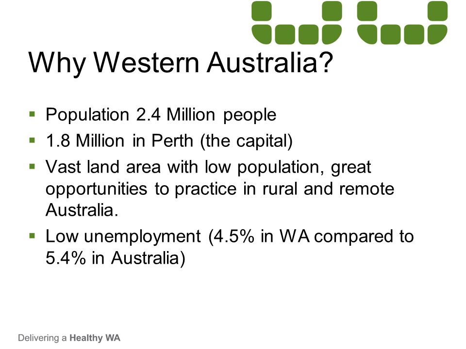 Why Western Australia Population 2.4 Million people