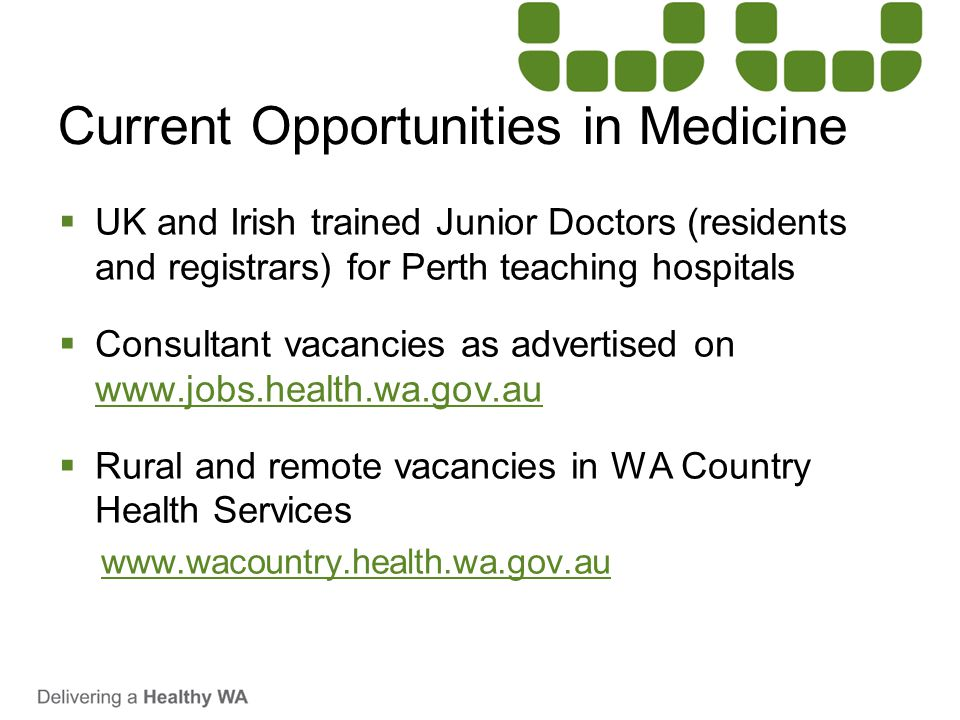 Current Opportunities in Medicine