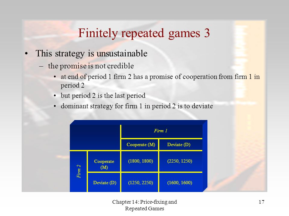 Finitely repeated games 3