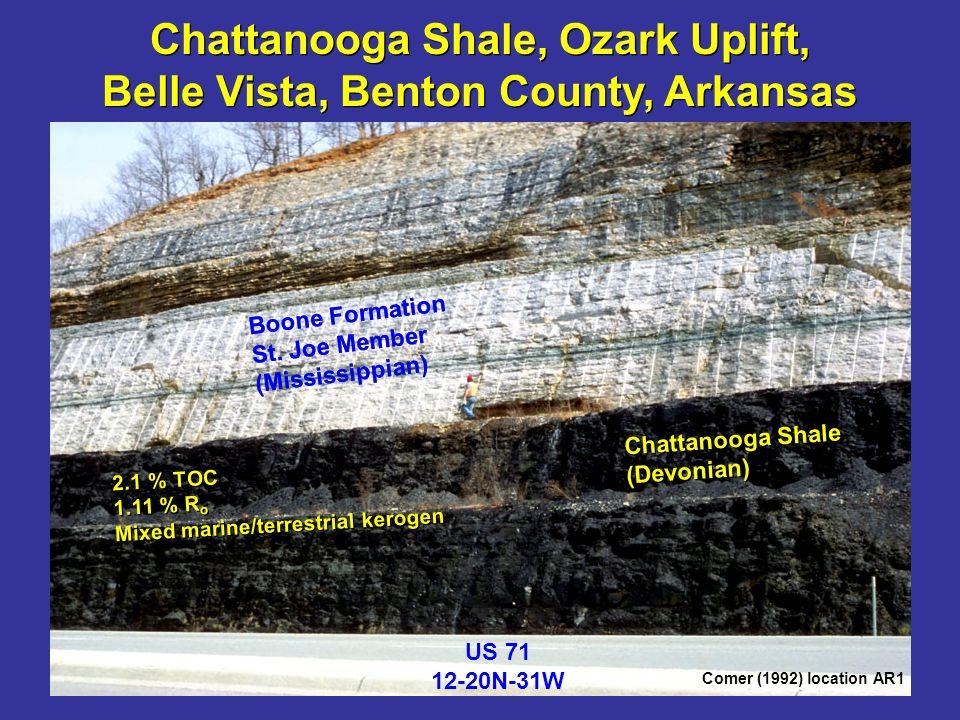 Chattanooga Shale, Ozark Uplift, Belle Vista, Benton County, Arkansas