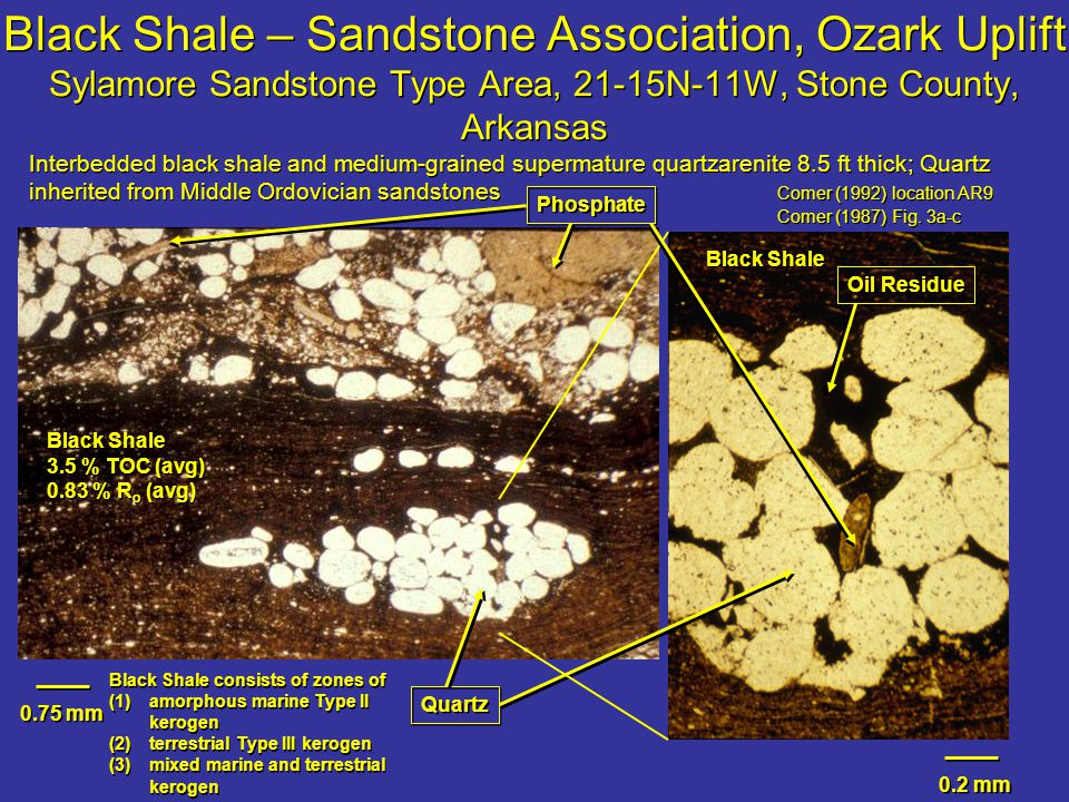 Black Shale – Sandstone Association, Ozark Uplift Sylamore Sandstone Type Area, 21-15N-11W, Stone County, Arkansas