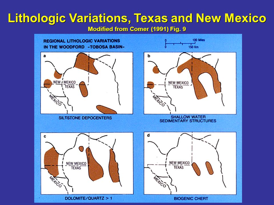 Lithologic Variations, Texas and New Mexico