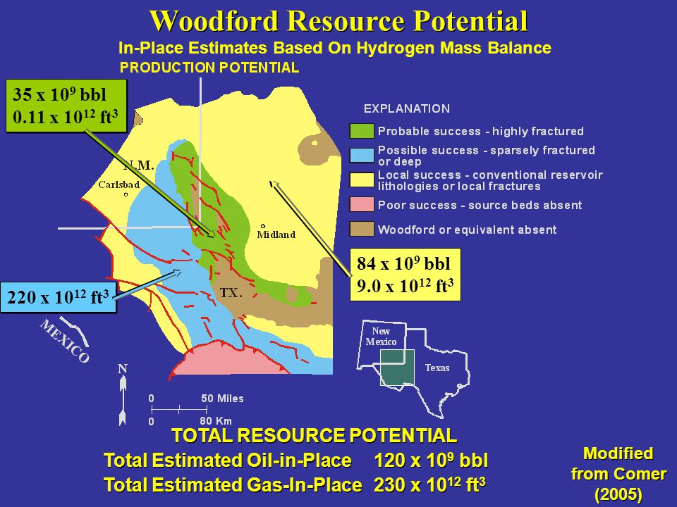 Woodford Resource Potential