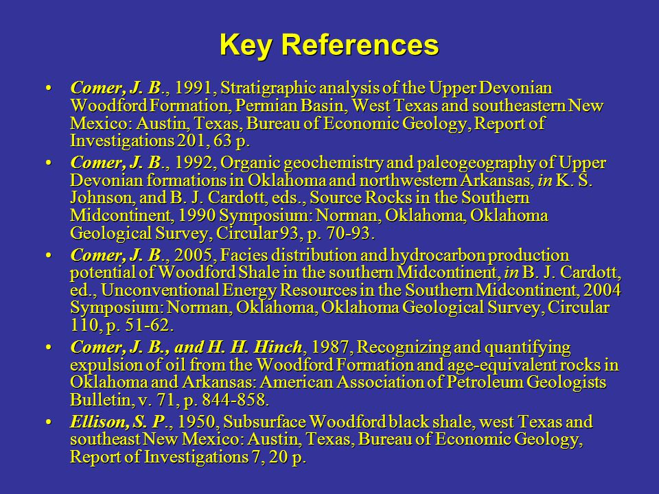 Key References