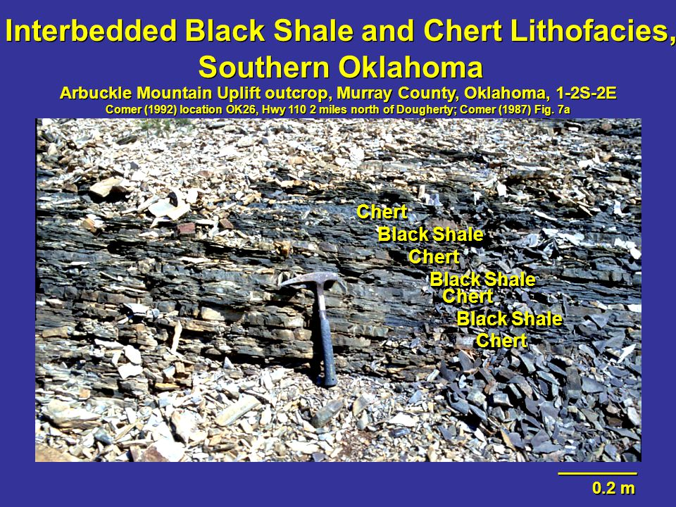 Interbedded Black Shale and Chert Lithofacies, Southern Oklahoma