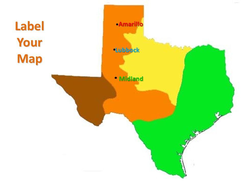 Label Your Map Amarillo Lubbock Midland