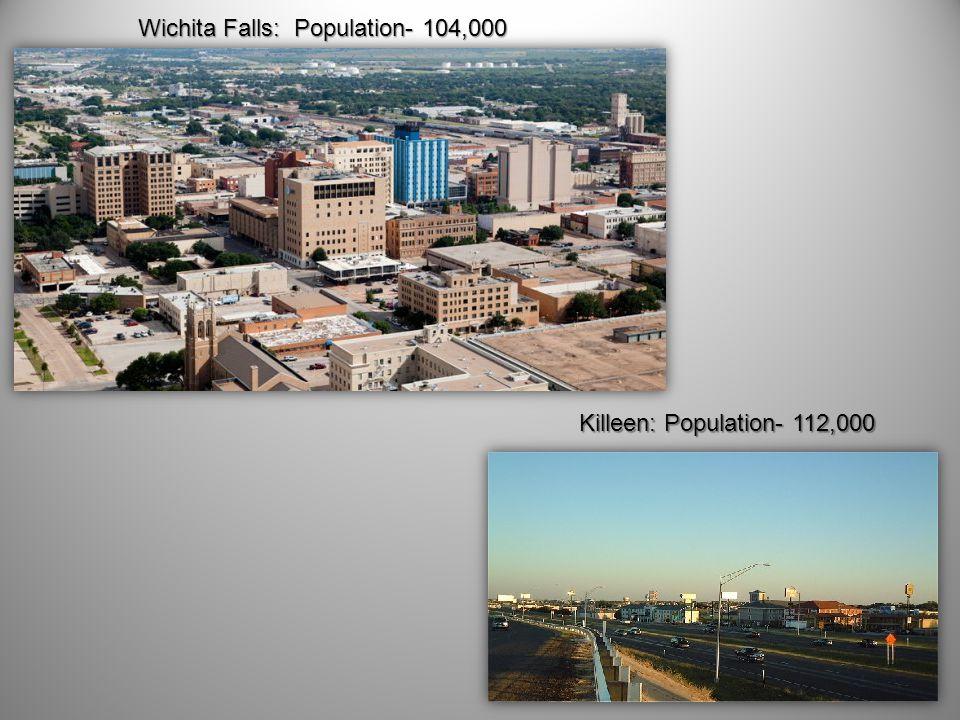 Wichita Falls: Population- 104,000