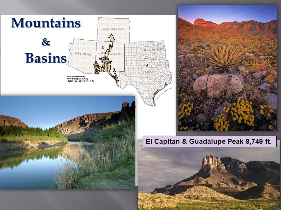 Mountains & Basins El Capitan & Guadalupe Peak 8,749 ft.