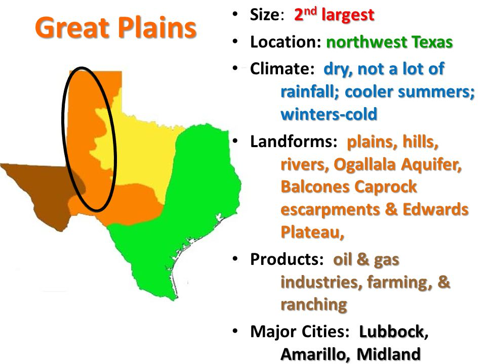4 Natural Regions of Texas - ppt download