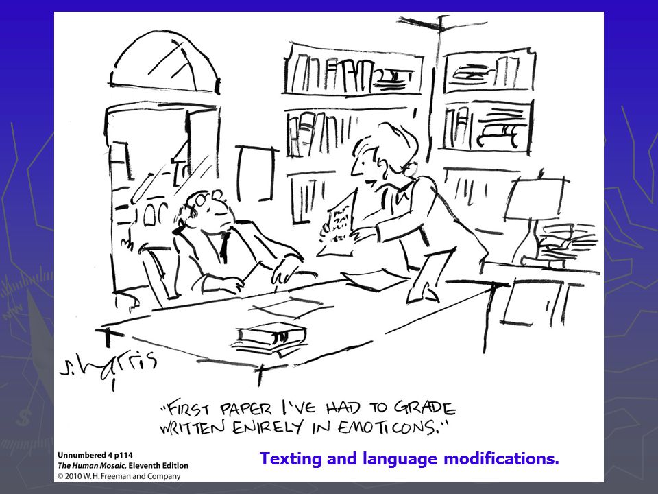 Texting and language modifications.