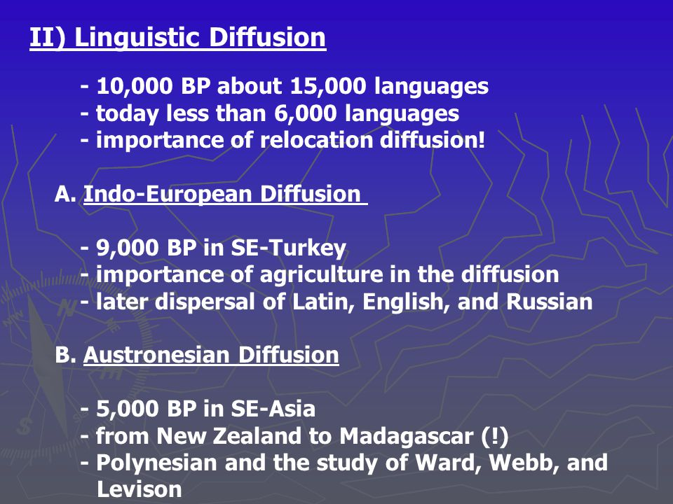 II) Linguistic Diffusion