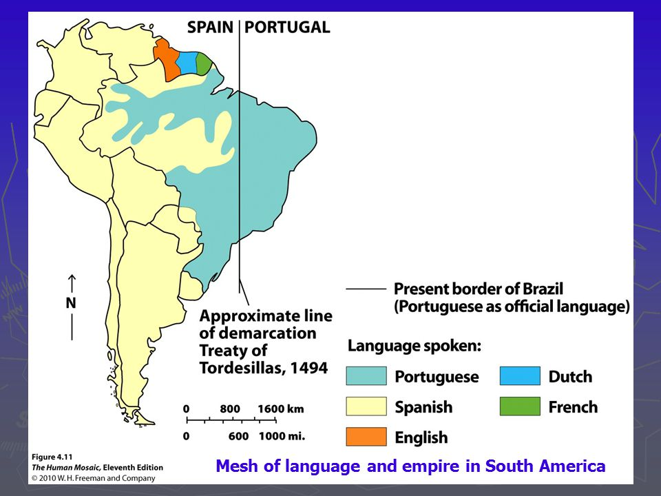 Mesh of language and empire in South America