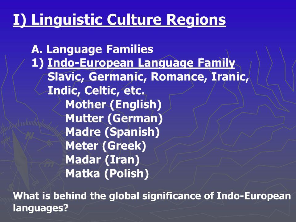 I) Linguistic Culture Regions