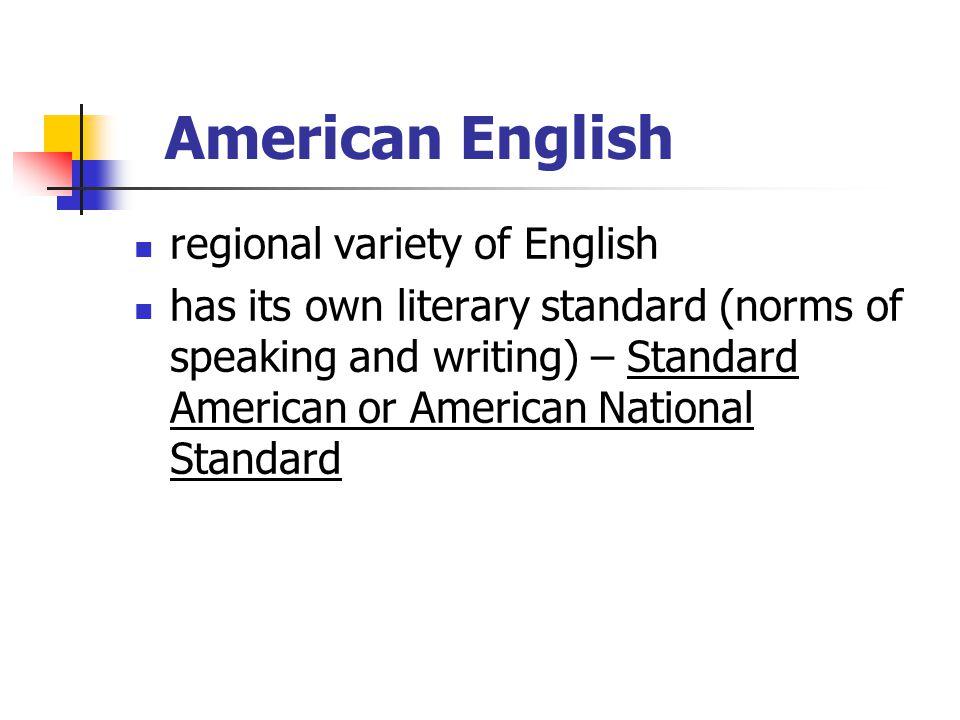 American English regional variety of English