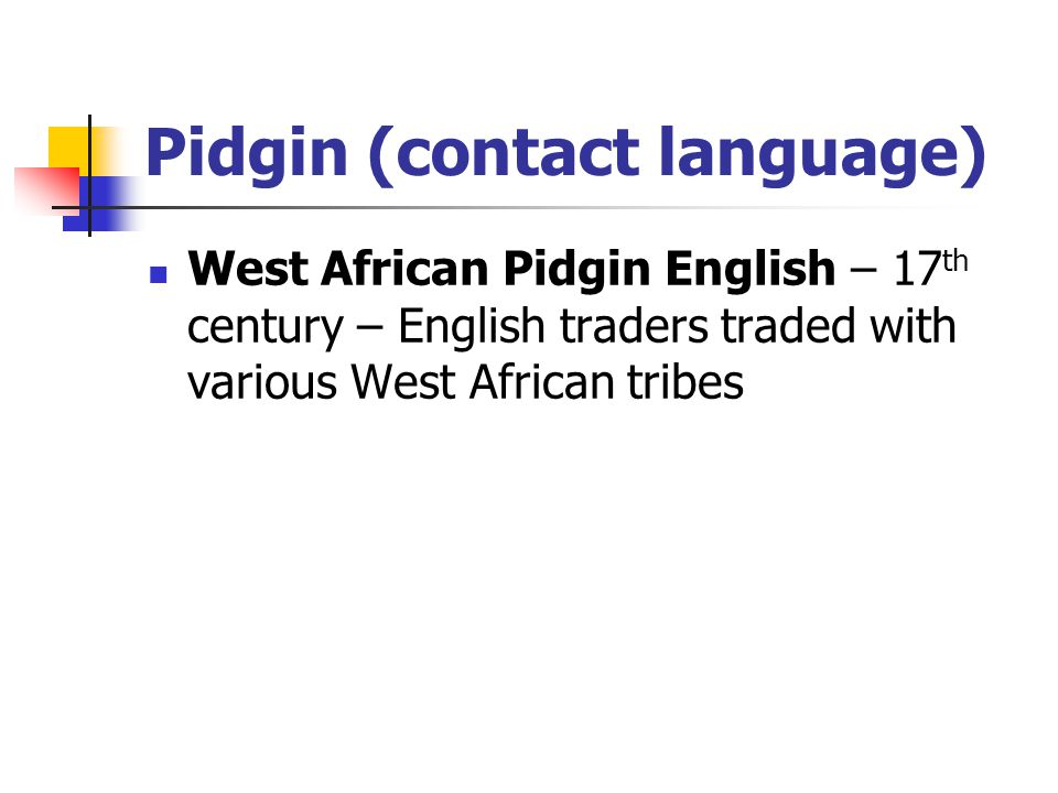 Pidgin (contact language)