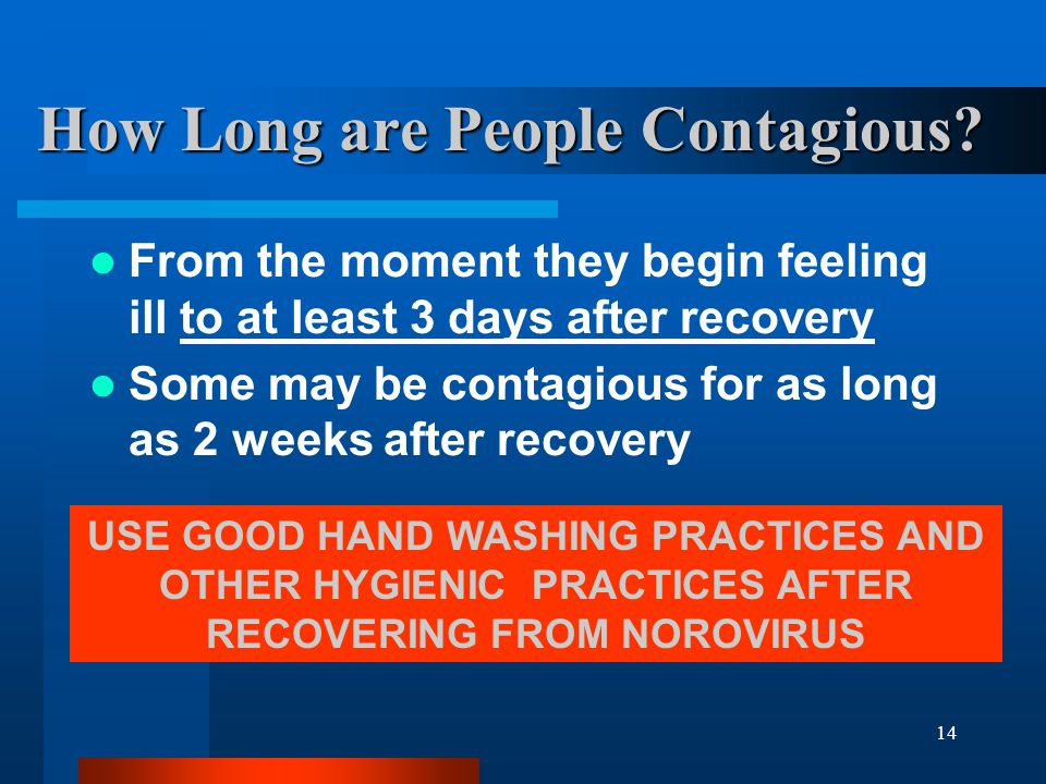 How Long are People Contagious