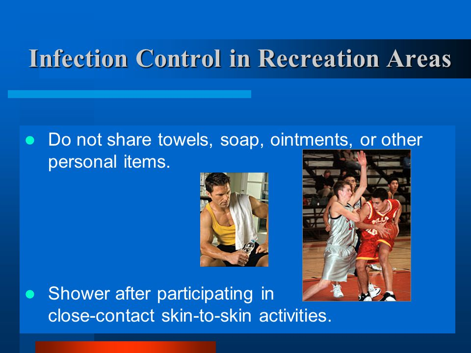 Infection Control in Recreation Areas