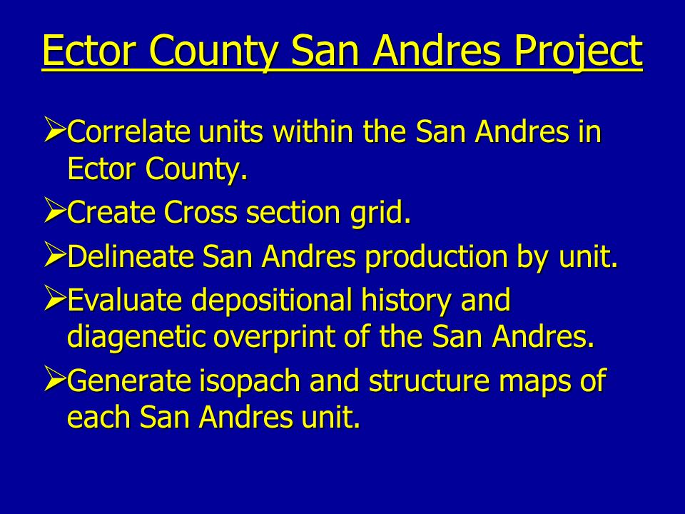 Ector County San Andres Project