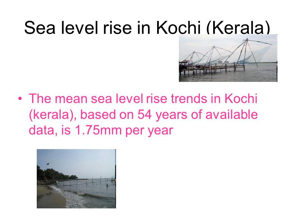 Sea level rise in Kochi (Kerala)
