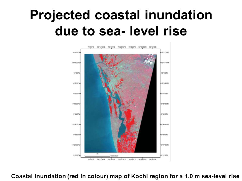 Projected coastal inundation due to sea- level rise