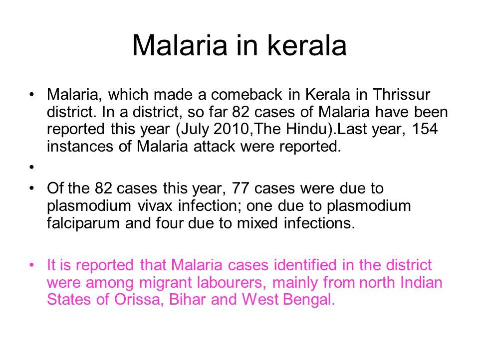 Malaria in kerala