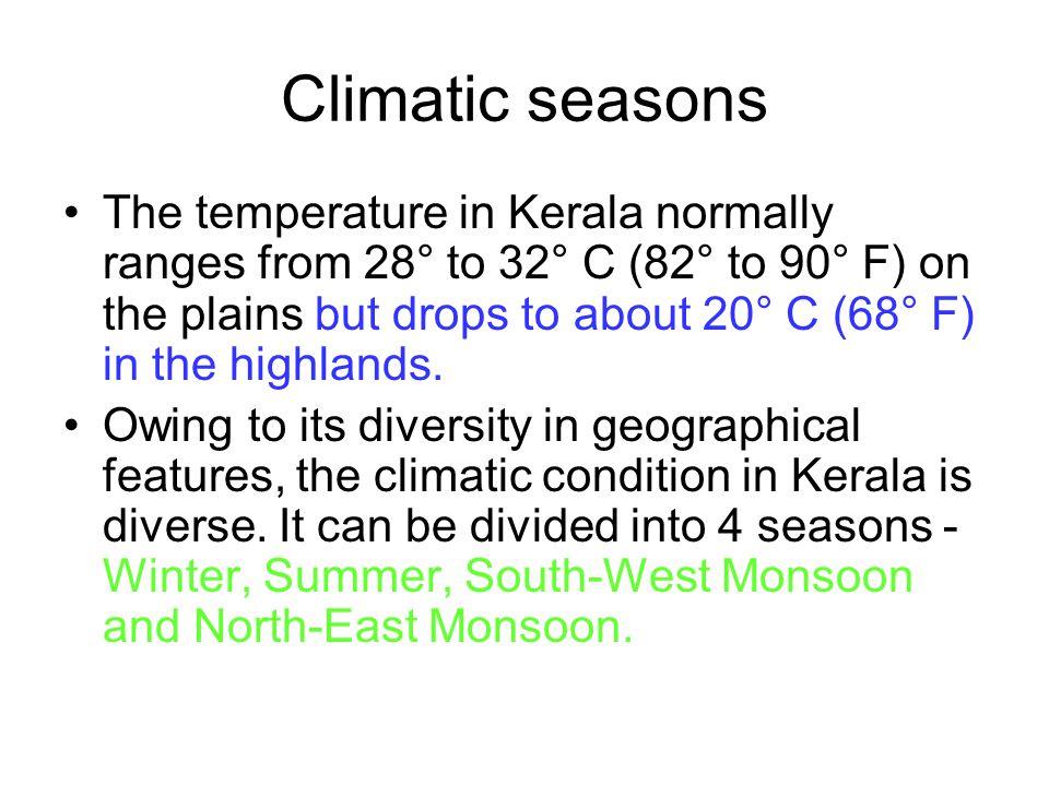 Climatic seasons