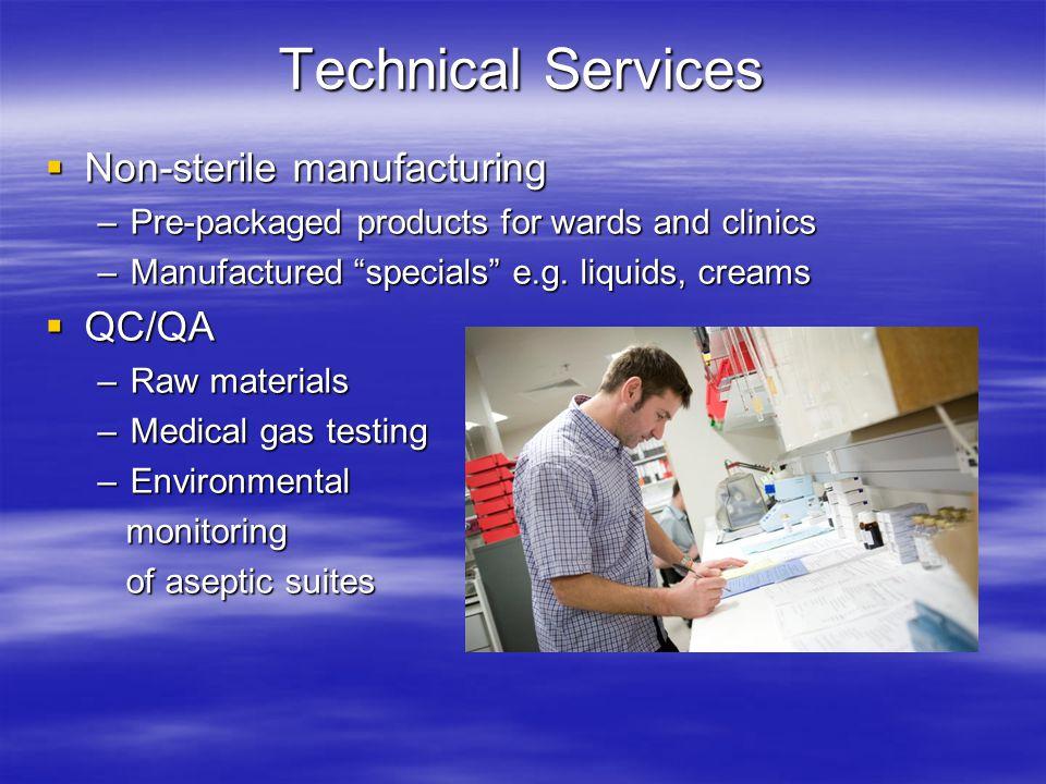 Technical Services Non-sterile manufacturing QC/QA