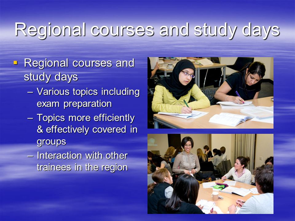 Regional courses and study days