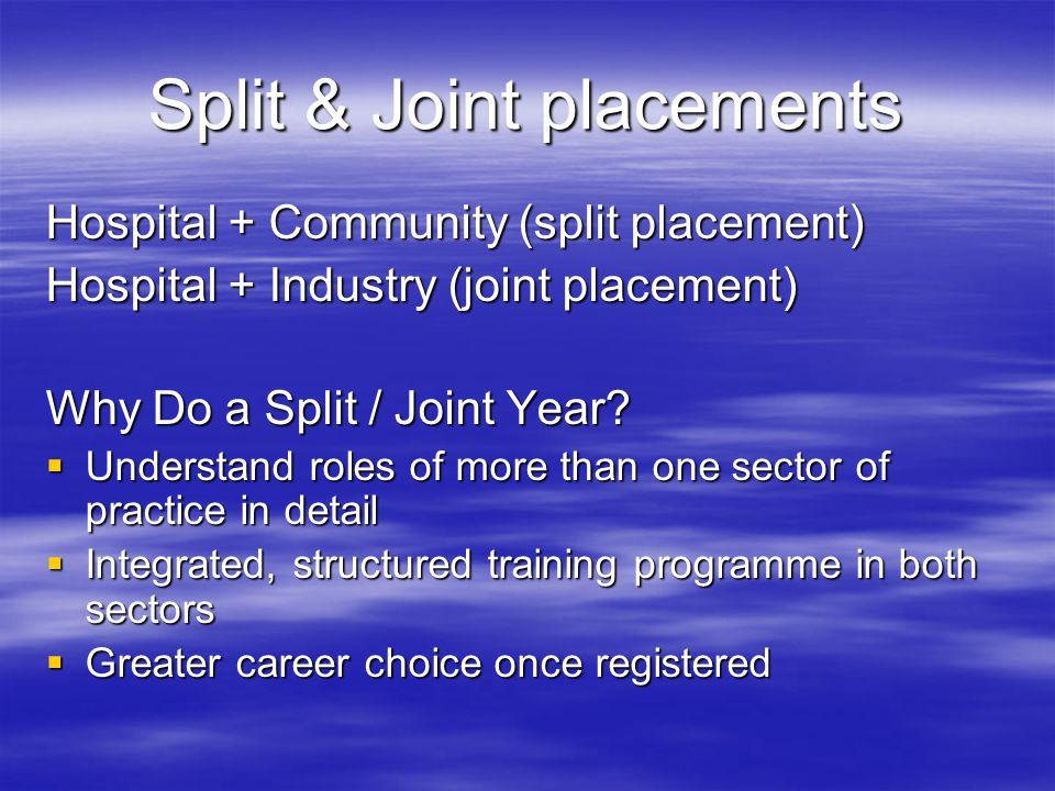 Split & Joint placements